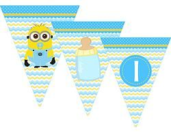 MINION Baby Shower Banner #minionsparty #minionspartyprintables #babyshower #minionsbabyshower