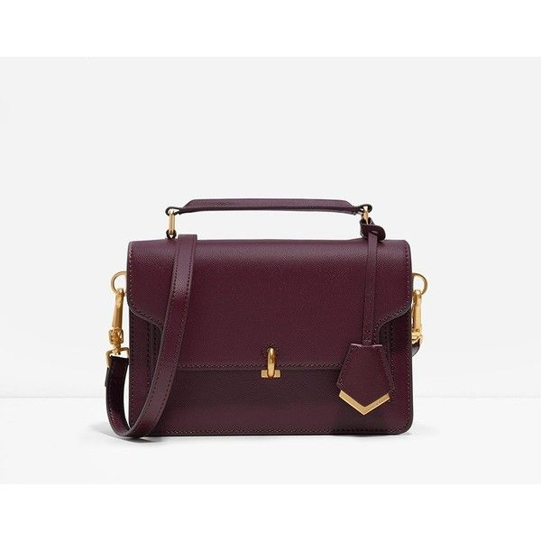 CHARLES & KEITH Mini Turn-Lock Bag featuring polyvore, women's fashion, bags, handbags, shoulder bags, burgundy, purple handbags, purple purse, purple crossbody, crossbody handbags and mini purse
