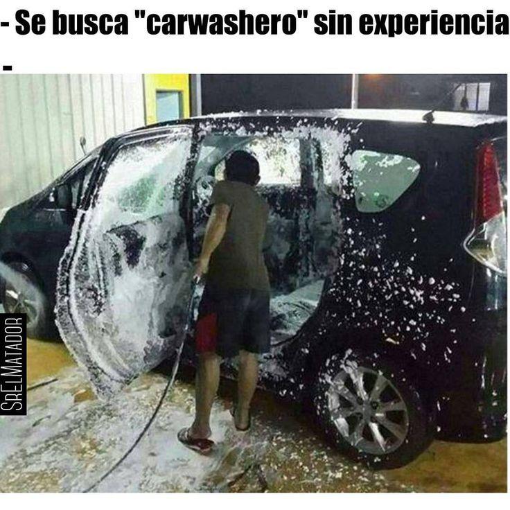 Cuando ni el sentido común es tan común.  #SábadosDeDespecho #carwash #lavado #auto #Carro #carwashero #picoftheday #instafail #fail #SrElMatador #ElSalvador