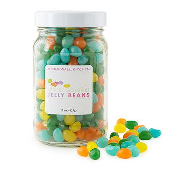 Easter Gourmet Jelly Beans - flavors include Tangerine, Blueberry, Lemon Meringue and Green Apple. One taste and these will disappear quickly!
