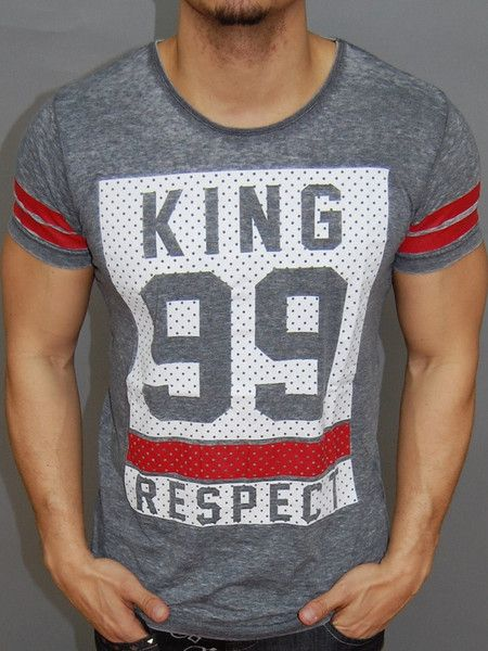 Nice body / muscle fitted shirt, KING, 99, RESPECT printed in front. 2 bands around the sleeves. Please use the size chart to pick the correct size for you. * FORM / BODY / MUSCLE FITTED * 67% COTTON