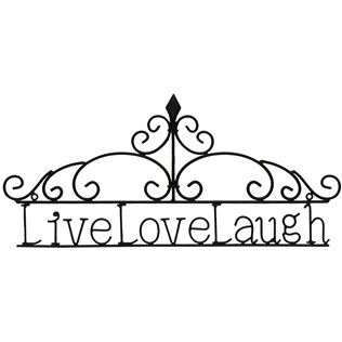 This metal wall decor comes with a simple message: live, love, laugh.  | Shop Hobby Lobby