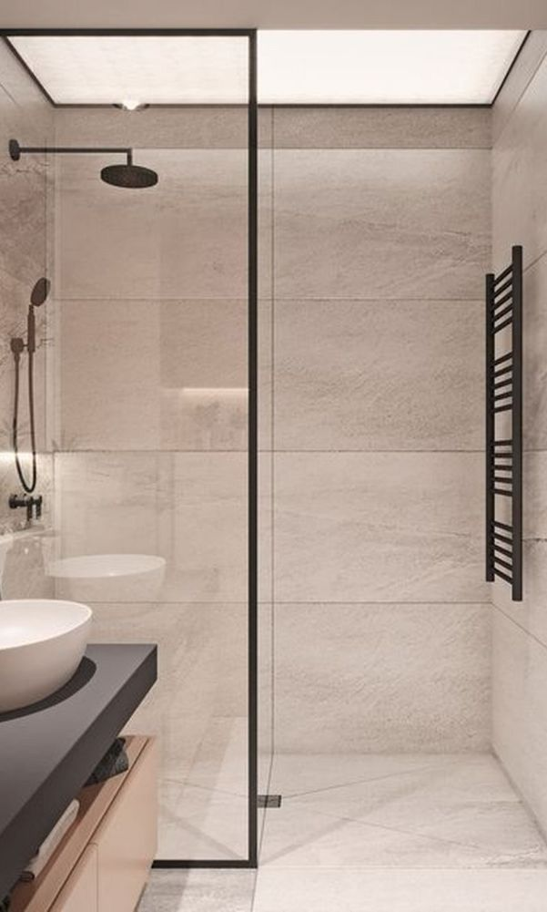 63 Luxury Walk In Shower Tile Ideas That Will Inspire You Page 38 Of 63 My Home Design Blog In 2020 Shower Tile Small Bathroom Shower Design