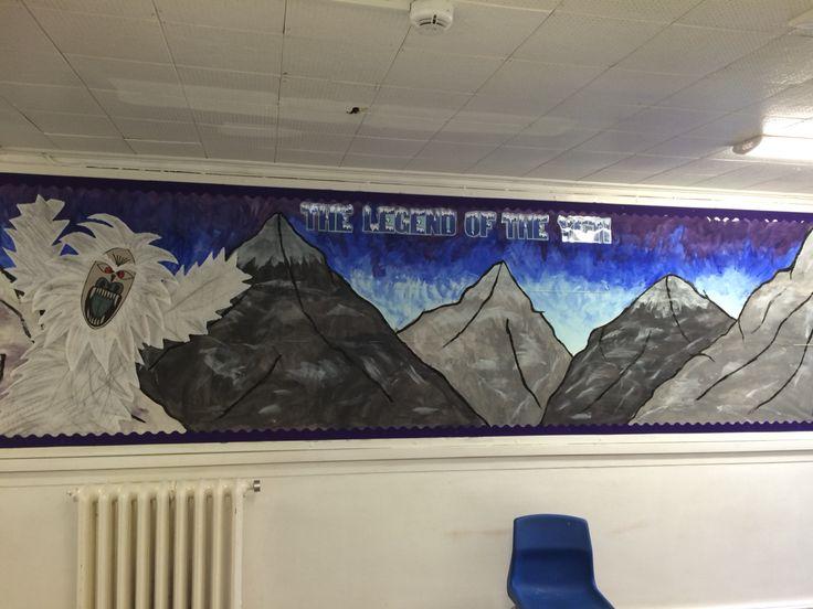 Classroom Ideas For Middle School ~ Yeti mountain display school displays pinterest