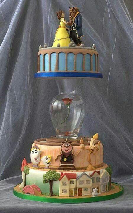 Beauty and the Beast wedding cake ♡