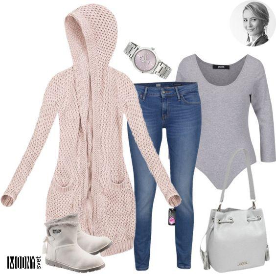 Dnešný deň nám ukončí toto sivé body s ružovým svetrom❤Ja túto kombináciu proste milujem😍Pekné, čisté, pohodlné. Čo viac si priať v chladný deň😉Nechýbajú teplé zimné topánky, ktoré sú dostupné až v piatich farbách👍 Ďalšie pohodlné outfity nájdete TU
