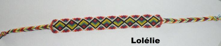 Bracelet brésilien méthode normale en coton perlé : Bracelet par lolelie