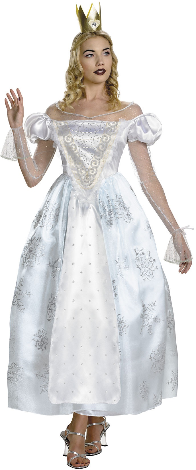 White Queen Deluxe Costume - Alice in Wonderland