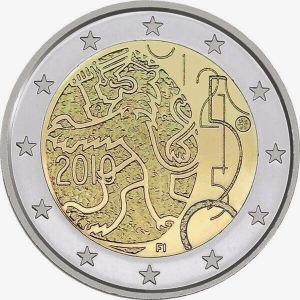 Finnish commemorative €2 euro coins 2010, Currency Decree of 1860 granting Finland the right to issue banknotes and coins. Commemorative €2 euro coins from Finland