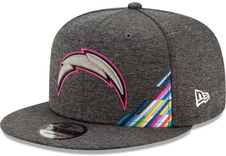 Men S New Era Heather Gray Los Angeles Chargers 2019 Nfl Crucial Catch 9fifty Snapback Adjustable Hat Fitted Hats New Era Hats For Men