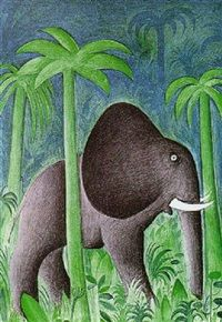 Afrikansk elefant by Hans Scherfig