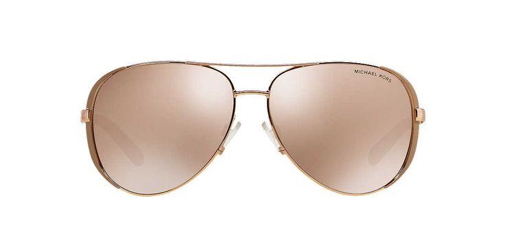 7bc763f422 Fossil Ladies Marie Gold Aviator Sunglasses