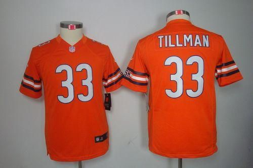 Nike Bears #33 Charles Tillman Orange Alternate Youth Embroidered NFL Limited Jersey prices USD $23.50 #cheapjerseys #sportsjerseys #popular jerseys #NFL #MLB #NBA
