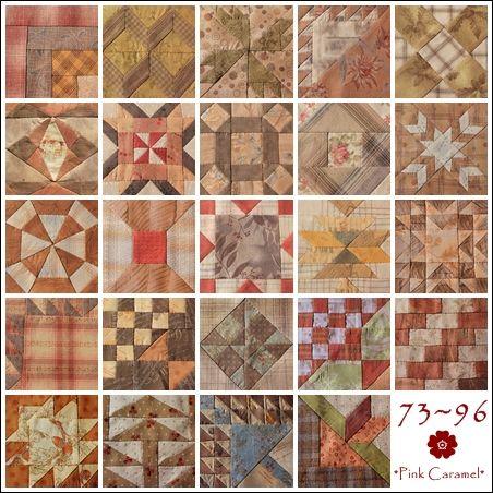 Patchwork * Pink Caramel *: The Farmer's Wife Sampler Quilt Blocks 73-96