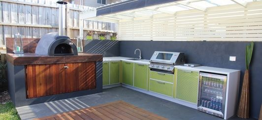 Our Alfresco wood-fired pizza oven as featured in Your Fantastic Backyard Magazine and Advertising Network. http://yourfantasticbackyard.com.au/bare-grills/