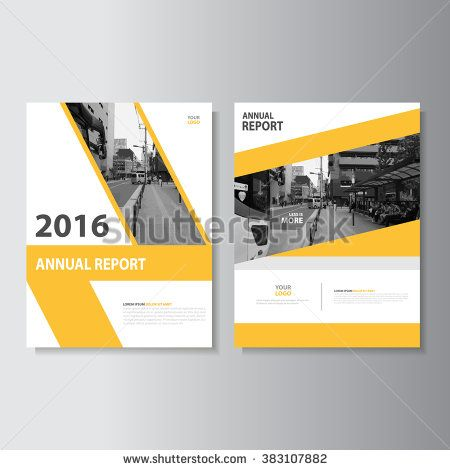 yellow annual report Leaflet Brochure Flyer template A4 size design, book cover layout design, Abstract yellow presentation templates - stock vector