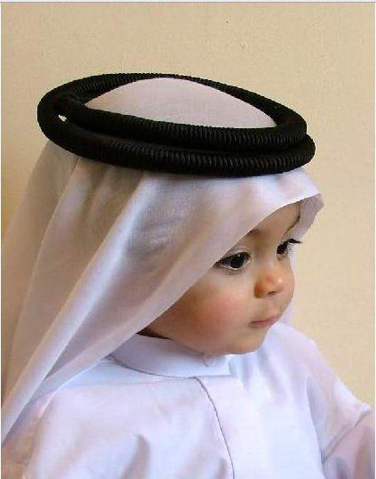 Arab baby in traditional clothing