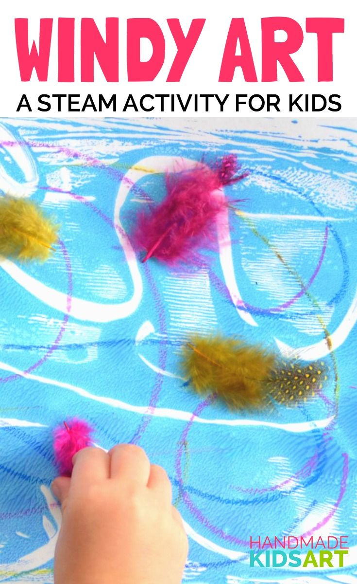 Easy STEAM activity for kids. Combine Science and Art for an exploration into the power of wind.