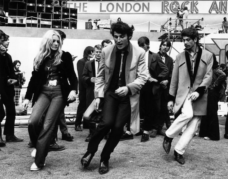 Vintage Photographs of Hippies and Teds Gathered at Wembley Stadium for a Rock 'n' Roll Revival Show in 1972