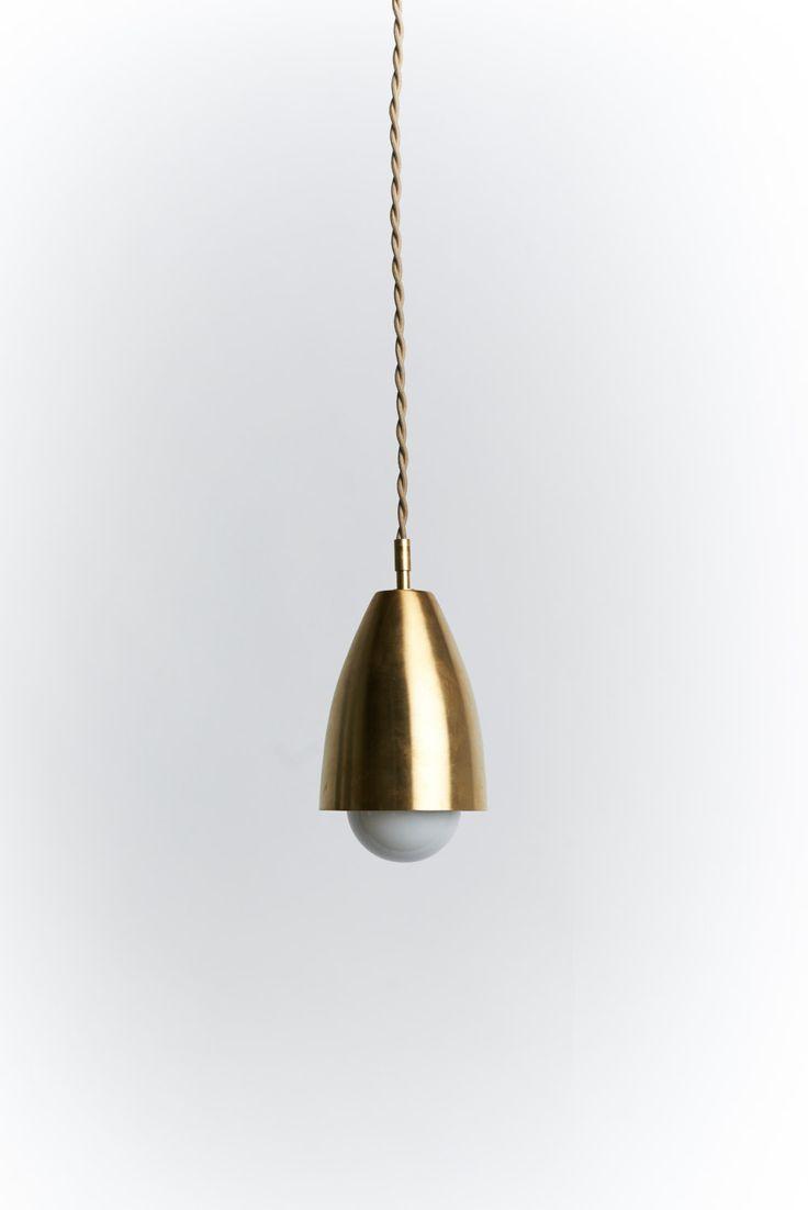Brass midcentury pendant light
