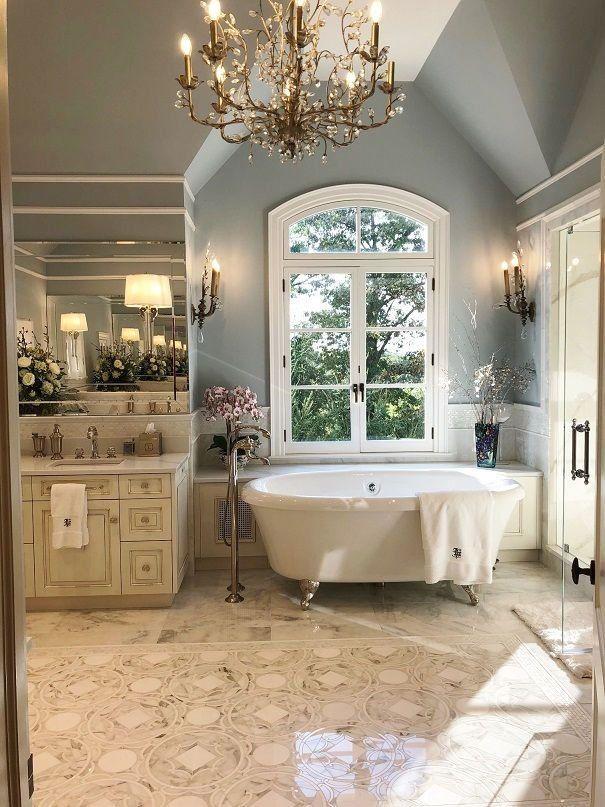 N.J. home makeover: A stunning master bathroom complete ...