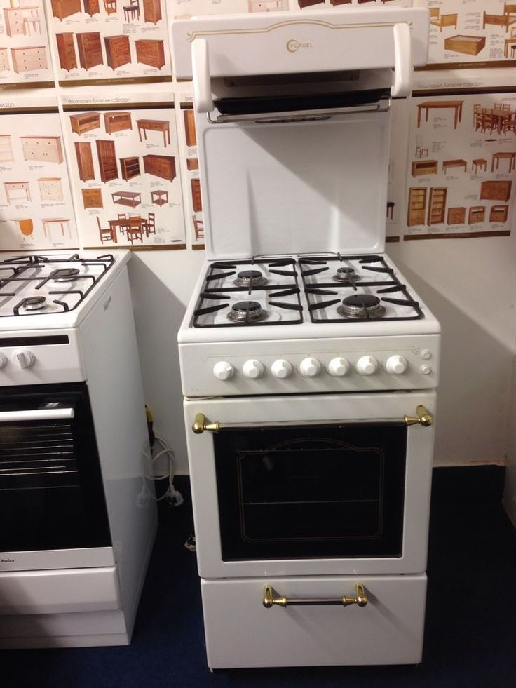 Eye Level Grill Gas Cooker Cannon Westminster White 53 Cm