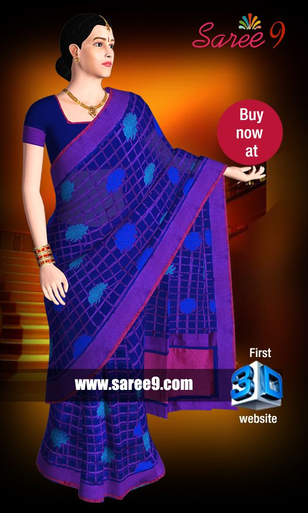 https://www.saree9.com/ The focus is to create the virtual feel of Saree by emerging 3D technology. We proudly annouce that this is the first and fore most website developed in 3D technology for Sarees. The rich user interface enables to experience the realistic feel of Saree worn by a virtual Model with no compromise in quality and fabric of the product.