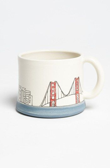 Etsy & Nordstrom Present: San Francisco hand painted mug by Downing Pottery