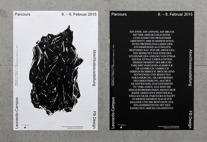 Parcours – Abschlussausstellung am Fachbereich Design FH Münster   Slanted - Typo Weblog und Magazin