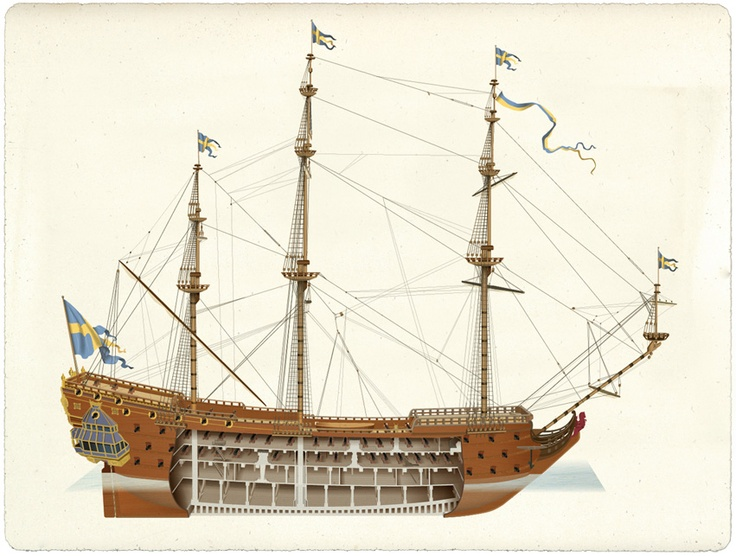 Kronan, also called Stora Kronan,[1] was a Swedish warship that was the flagship of the Swedish navy in the Baltic Sea in the 1670s. (Wikipedia)