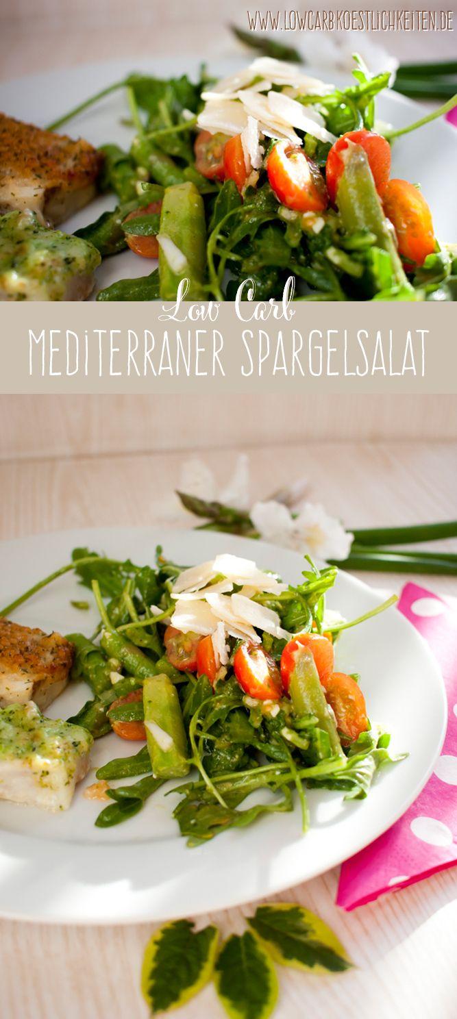 Low Carb mediterraner Spargelsalat #lowcarb #glutenfrei www.lowcarbkoestlichkeiten.de