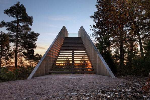 Forest Stair in the Sti For Øye sculpture park in Stokke, by Norwegian studio Saunders Architecture