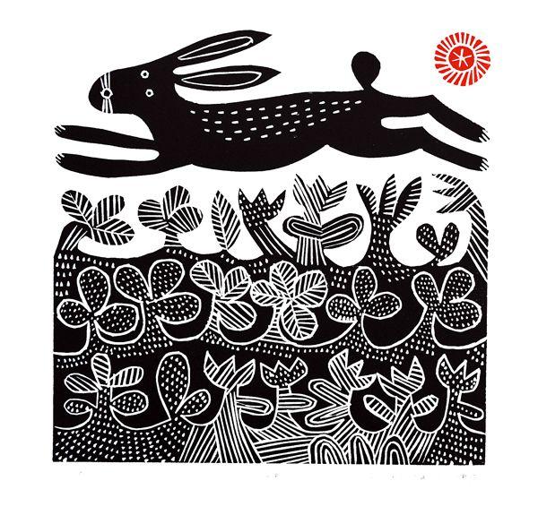 Hare Linocut by Hilke MacIntyre