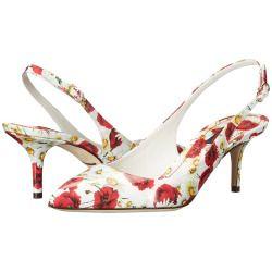 sale Dolce & Gabbana - Slingback Vernice (Papaveri/Bianco) Women's Shoes