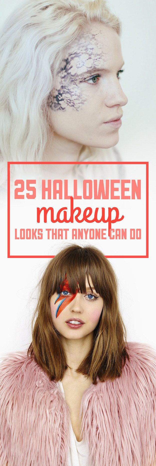 25 Halloween Makeup Looks That Are Actually Easy - when looking throught these pictures, they gave me some idea's on how my character should look and how she should be portrayed. 'Twisted Circus' is a theme that fits the idea of halloween perfectly, so I was influenced by stimuli based around of this time of year - look at the variety of costumes and make-up/masks.