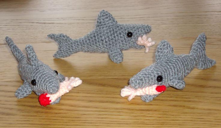 Man-eating sharks (crochet) Cool stuff Pinterest ...