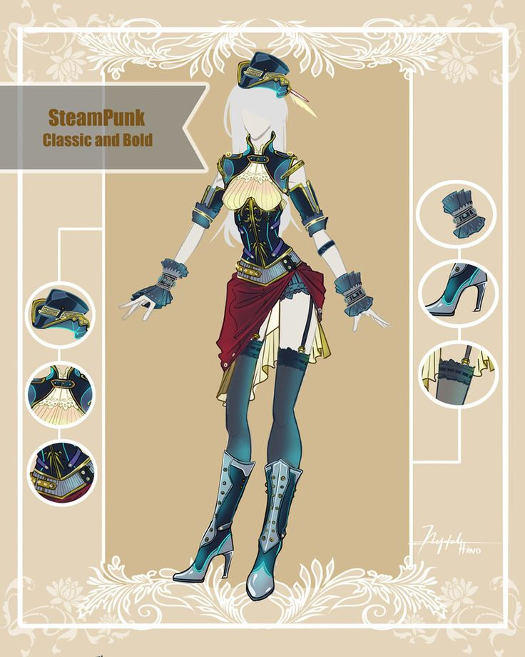 CLOSED Adoptable Outfit Auction: Steampunk Classic by Hassly.deviantart.com on @DeviantArt