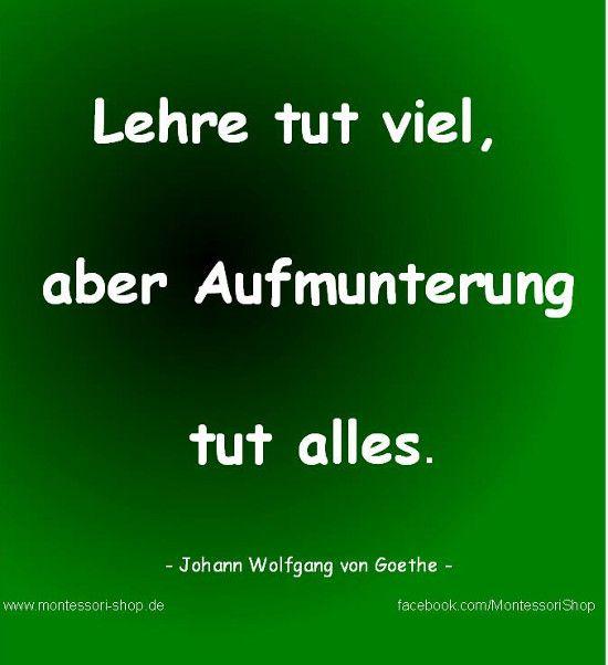Goethe Zitat zur Lehre und Lernen.
