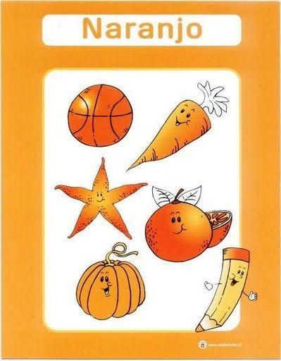 color naranja fichas infantiles para aprender los colores imprimir gratis para niños