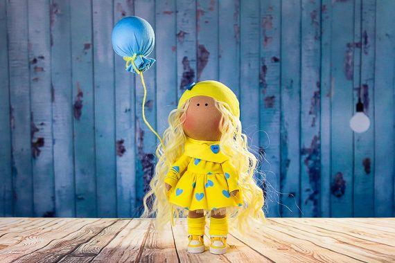 Doll Mia. Tilda doll. Textile doll. Lovely girl. by OwlsUa on Etsy