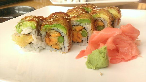 Oto Sushi - Asparagus yam tempura roll - Redmond, WA, United States