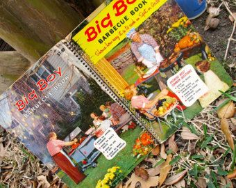 Big Boy Barbecue Book Vintage cookbook spiral paperback 1950's midcentury grilling outdoor summer cooking patio picnic party grilling -    Edit Listing  - Etsy