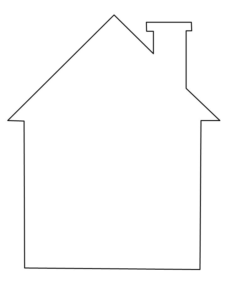 house coloring page - could be used as a template for applique