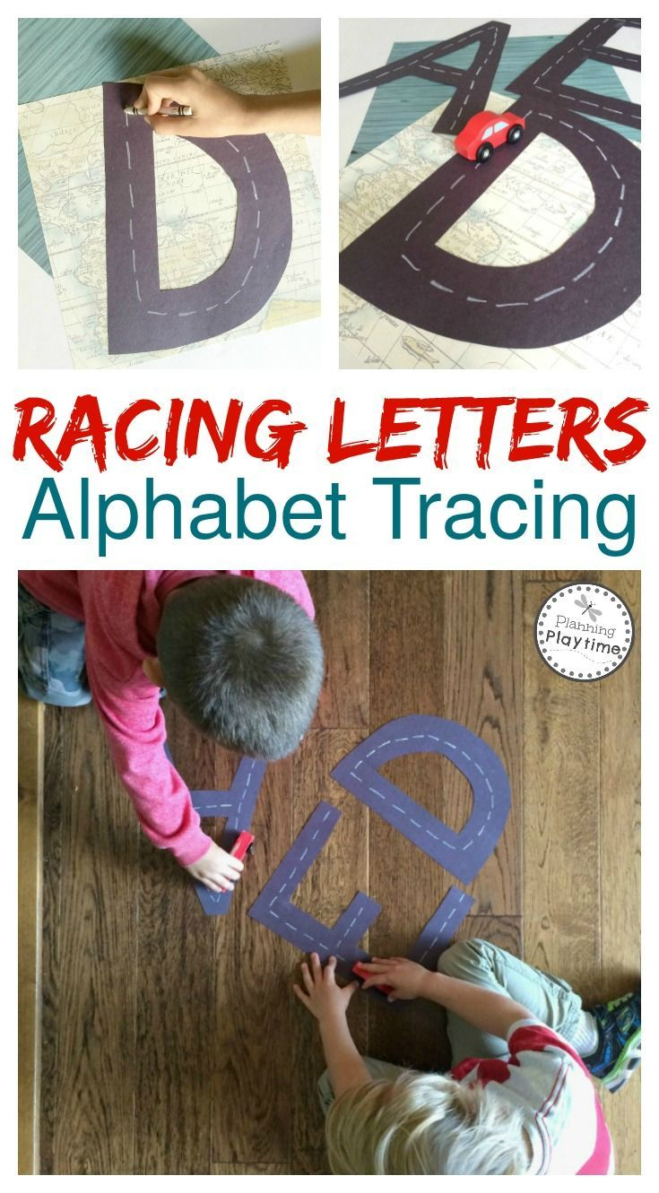 Racing Letters Alphabet Tracing - Super fun letter recognition activity for kids.