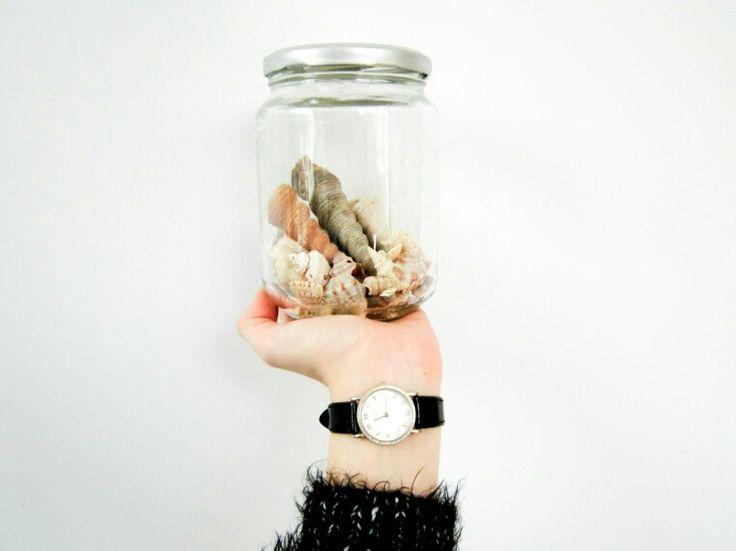 Shells in a jar diy