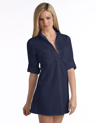 Camp Shirt Swim Cover-Up | Lord and Taylor
