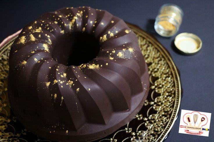 "Bananenkuchen mit Nüssen und ""angegossener"" Schokoglasur/ Kolač od banana i oraha sa ""izlijevenom"" glazurom"