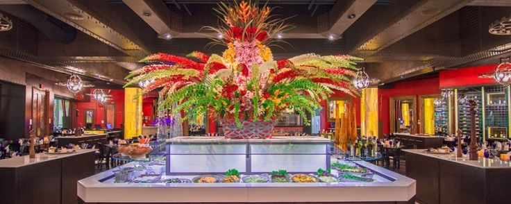 Upscale Brazilian style steakhouse featuring a salad bar all-you-can-eat grilled meat carved tableside.