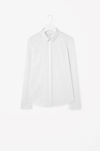 COS image 2 of Slim-fit shirt in White