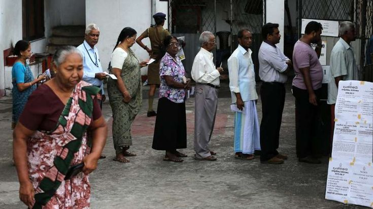 50 Biggest Elections in the World - February 2, 2018.  46. SRI LANKA > Presidential election of 2015: 12,264,377 total votes > Population: 21,866,445 (total) 15,262,770 (voting age) > Voter turnout: 81.5% > Highlight of election:  Sri Lankan leader Mahinda Rajapaksa, in office since 2005, is beaten by Maithripala Sirisena in a presidential election.